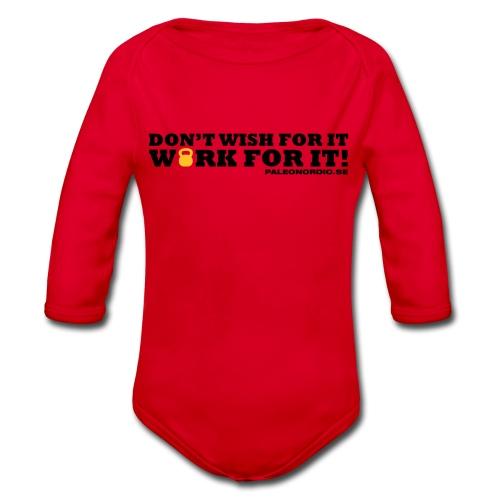 workforitsmal - Ekologisk långärmad babybody