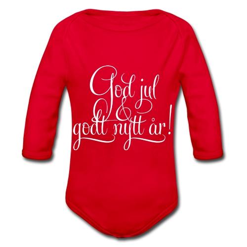 God jul & godt nytt år! - detnorskeplagg.no - Økologisk langermet baby-body