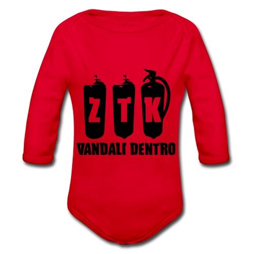 ZTK Vandali Dentro Morphing 1 - Organic Longsleeve Baby Bodysuit