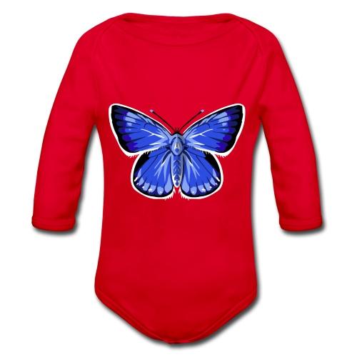 vlinder2_d - Baby bio-rompertje met lange mouwen