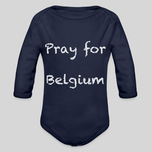 Pray for Belgium - Body Bébé bio manches longues