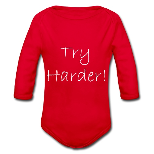 Try_Harder_W - Ekologisk långärmad babybody