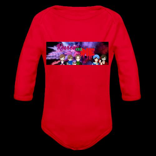 ReviewOrDie Cast Banner - Organic Longsleeve Baby Bodysuit
