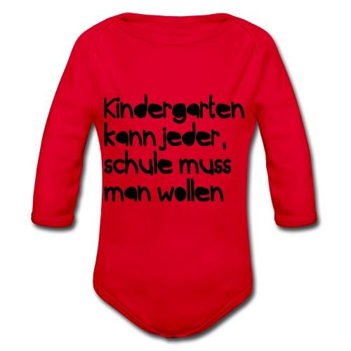 Kindergarten (Spruch) - Baby Bio-Langarm-Body