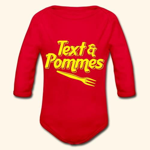 Text Pommes - Baby Bio-Langarm-Body