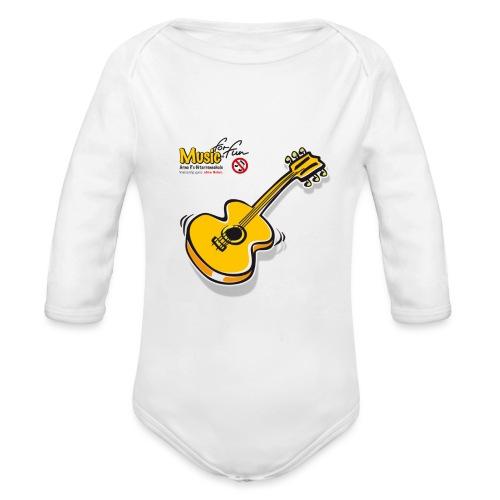 MusicForFun - heller Hintergrund - Baby Bio-Langarm-Body
