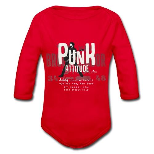 punk attitude - Body ecologico per neonato a manica lunga