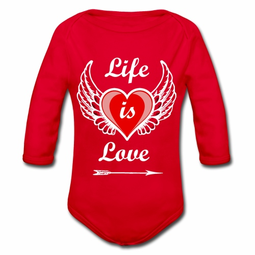 Life is Love - Baby Bio-Langarm-Body