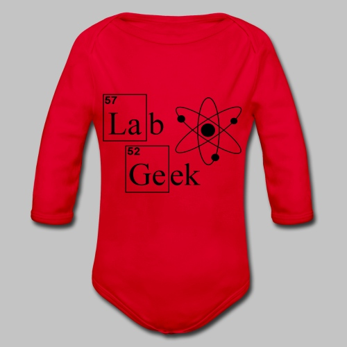 Lab Geek Atom - Organic Longsleeve Baby Bodysuit