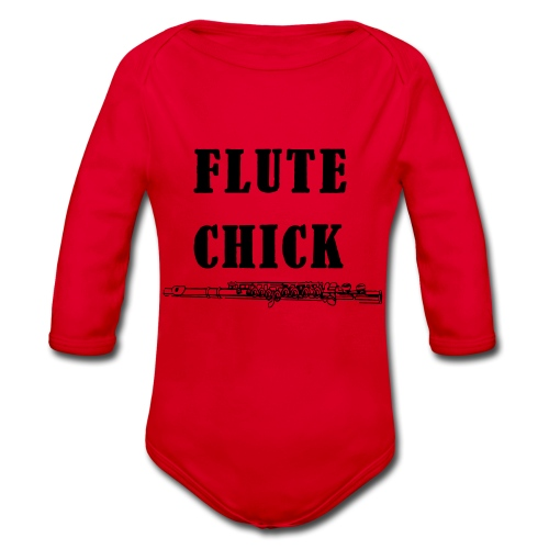 Flute Chick - Økologisk langermet baby-body