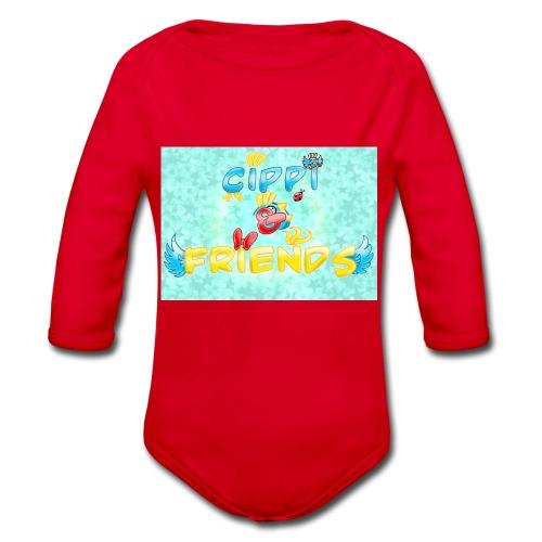 Tazza Cippi & Friends - Body ecologico per neonato a manica lunga