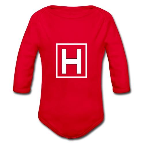 Hjartholm90 - Økologisk langermet baby-body