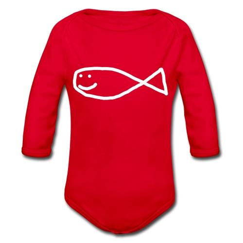 Klassisk Strandfisk T-Shirt - Økologisk langermet baby-body