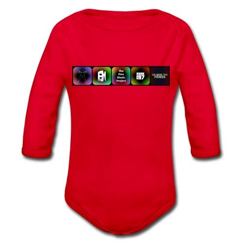 5 Logos - Organic Longsleeve Baby Bodysuit