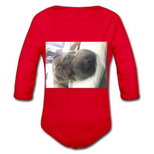 Closeup Shar-pei - Organic Longsleeve Baby Bodysuit
