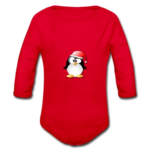 Mr Penguin - Organic Longsleeve Baby Bodysuit