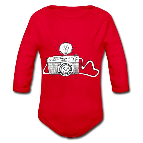 S33 camera-smile - Baby Bio-Langarm-Body