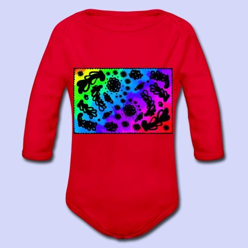 Rainbow doodle - Female shirt - Langærmet babybody, økologisk bomuld