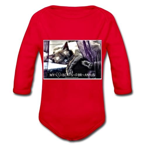 My Heart Beats For Anais - Organic Longsleeve Baby Bodysuit