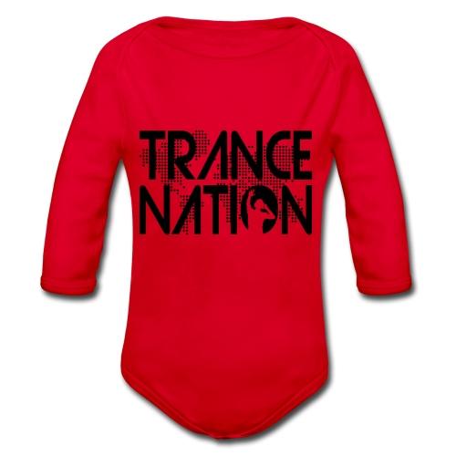 Trance Nation (Black) - Ekologisk långärmad babybody