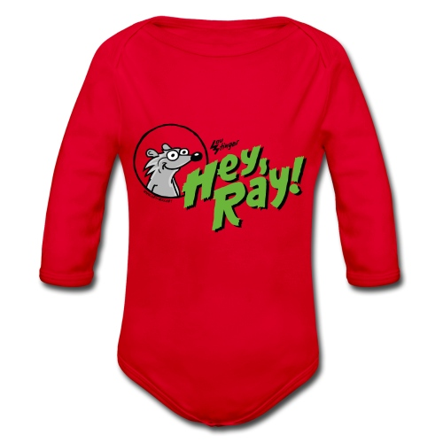 Hey Ray Logo green - Baby Bio-Langarm-Body