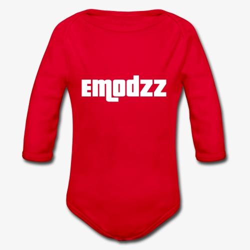EMODZZ-NAME - Organic Longsleeve Baby Bodysuit