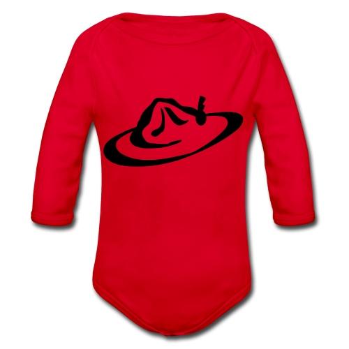 logo hoed - Baby bio-rompertje met lange mouwen