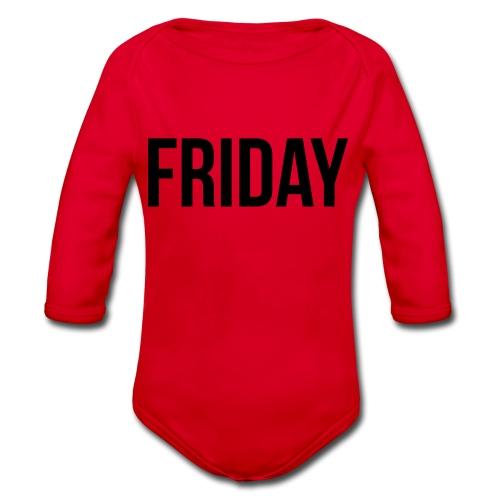 Friday - Organic Longsleeve Baby Bodysuit