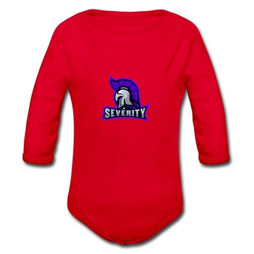 serverityggpnglogo-clothing - Organic Longsleeve Baby Bodysuit