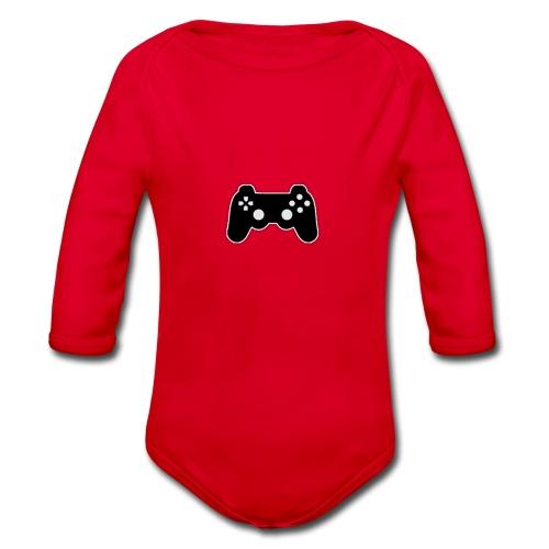 A Friendly Looking Controller Shirt! - Organic Longsleeve Baby Bodysuit