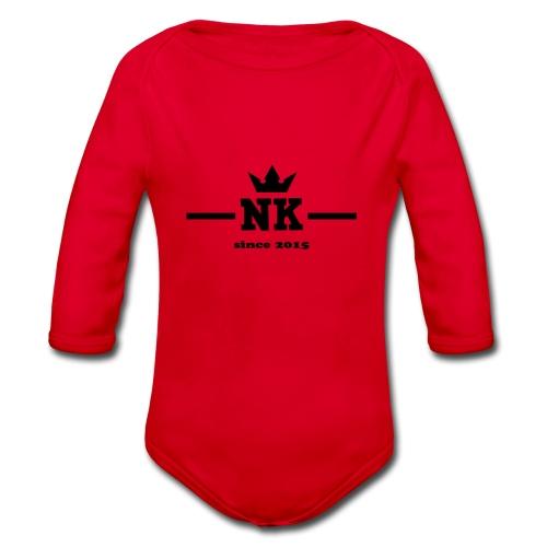 logo_3_schwarz - Organic Longsleeve Baby Bodysuit