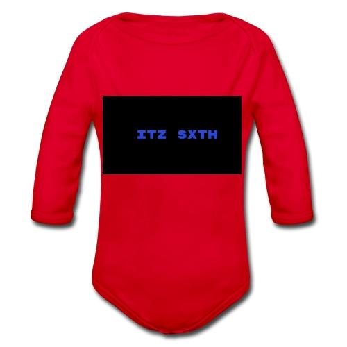 Itz Sxth Navy Clothing - Organic Longsleeve Baby Bodysuit
