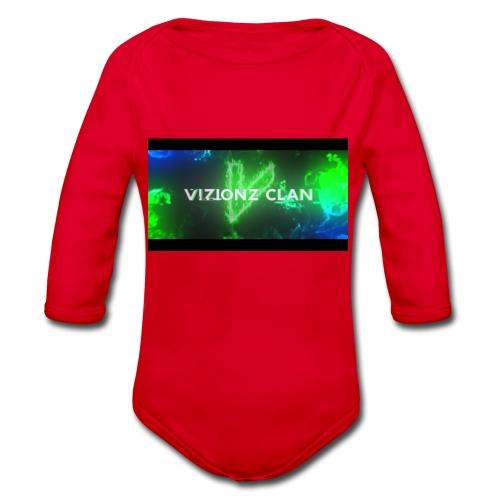 VizionzClan_Real - Baby Bio-Langarm-Body