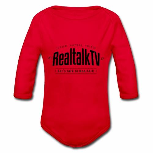 realtalk logo schwarz - Baby Bio-Langarm-Body