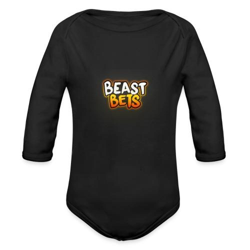 BeastBets - Langærmet babybody, økologisk bomuld