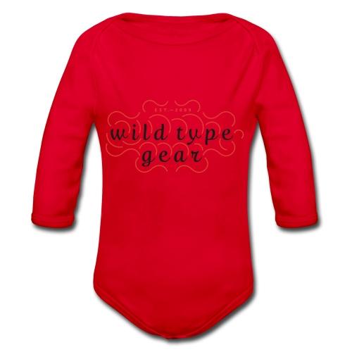 wtg stiched 2 - Organic Longsleeve Baby Bodysuit