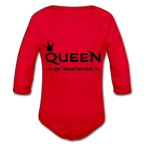 Queen (of whatever) - Baby bio-rompertje met lange mouwen