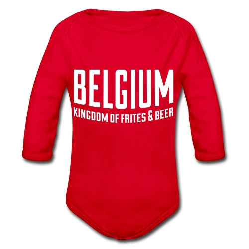 Belgium kingdom of frites & beer - Body Bébé bio manches longues