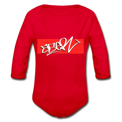 ASER Simple-Style RedBG - Baby Bio-Langarm-Body