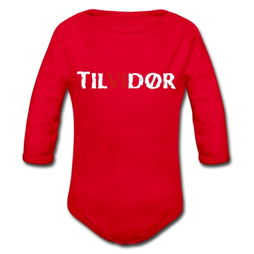 TILVIDØR LOGO - Langærmet babybody, økologisk bomuld