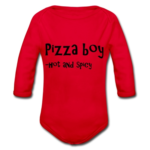 Pizza boy - Økologisk langermet baby-body