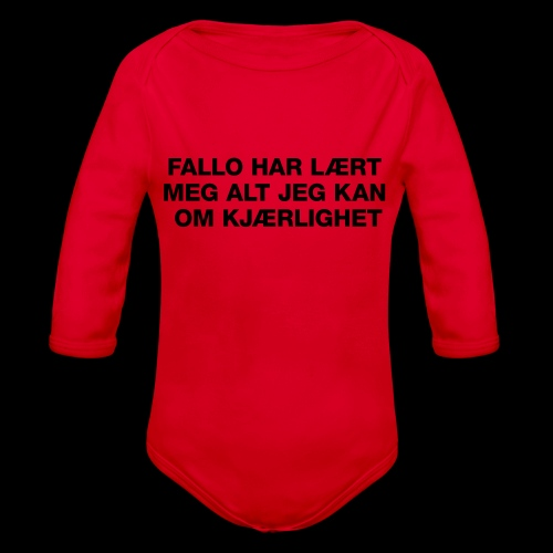 F-H-L-M-A-J-K-O-K-HOODIE - Økologisk langermet baby-body