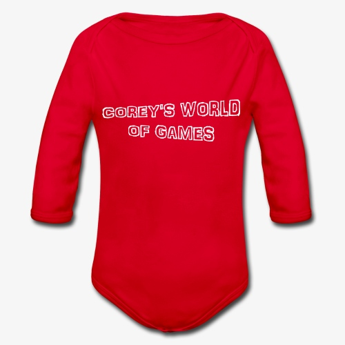 Coreys World Of Games - Organic Longsleeve Baby Bodysuit