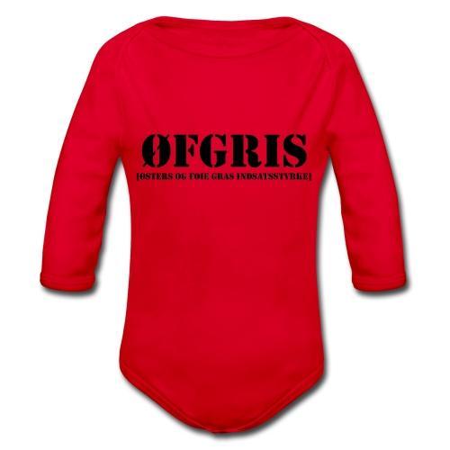 ØFGRIS - Bestsellere - Langærmet babybody, økologisk bomuld