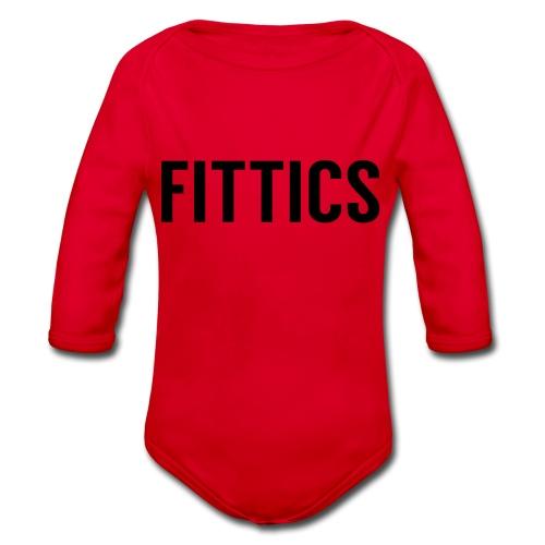 FITTICS Bold White - Organic Longsleeve Baby Bodysuit