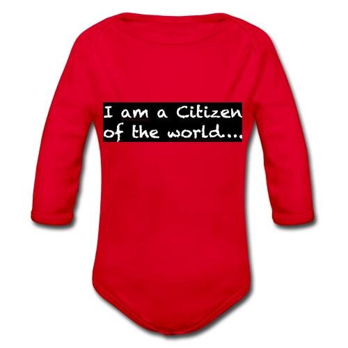 I am a citizen of the world - Ekologisk långärmad babybody