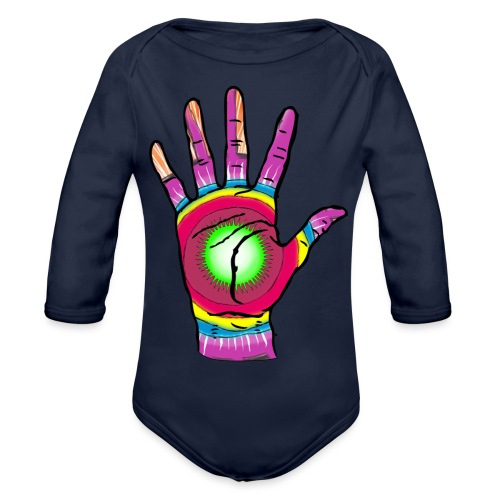 Stop and change the world - Organic Longsleeve Baby Bodysuit