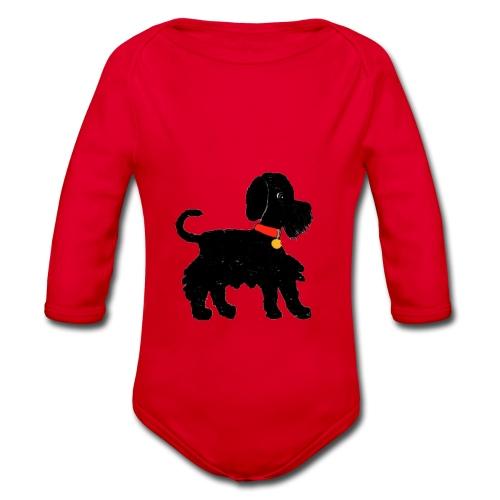 Schnauzer dog - Organic Longsleeve Baby Bodysuit
