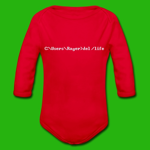 Programming Get A Life - Organic Longsleeve Baby Bodysuit
