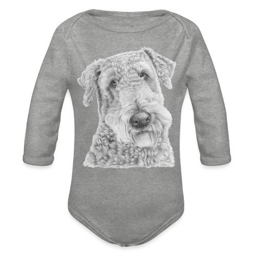 airedale terrier - Langærmet babybody, økologisk bomuld